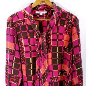 Trina Turk Silk Blouse Multicolored